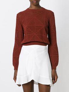 Chloé Perforated Sweater - Stefania Mode - Farfetch.com