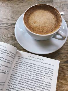 Tea, Coffee, and Books Coffee And Books, I Love Coffee, Coffee Break, My Coffee, Coffee Drinks, Morning Coffee, Coffee Shop, Coffee Cups, Coffee Study