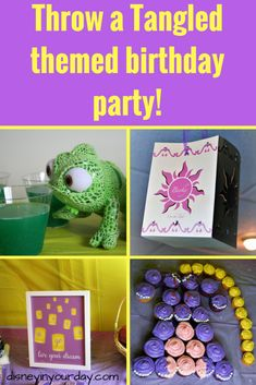 Looking to throw a Tangled themed birthday party? Here are suggestions for themed food, drinks, decorations, activities, and more! Rapunzel Birthday Party, 13th Birthday Parties, Disney Birthday, Birthday Party Games, Birthday Party Decorations, Party Themes, Themed Parties, 4th Birthday, Party Ideas