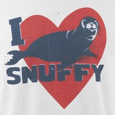 Shark Week I Love Snuffy T-Shirt - WhiteShows | Shark Week | Discovery Channel Store