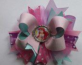 Ariel Bottle Cap - Boutique Hair Bow - Little Mermaid