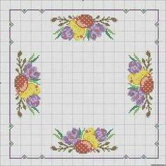 Santa Cross Stitch, Cross Stitch Heart, Cross Stitch Flowers, Funny Cross Stitch Patterns, Cross Stitch Designs, Cross Stitching, Cross Stitch Embroidery, Hand Embroidery Flowers, Easter Cross