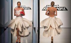 Project Runway Season 14 - Unconventional Challenge -  Edmond Newton Greeting Card Wedding Dress