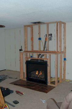 Gas fireplace redesign
