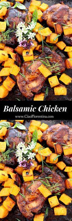 Honey Balsamic Chicken & Roasted Butternut Squash | CiaoFlorentina.com @CiaoFlorentina