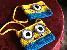 Minion purses Minions, Knit Crochet, Winter Hats, Beanie, Purses, Knitting, Projects, Pattern, Bags