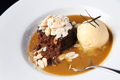 Sticky date pudding with butterscotch sauce at Cicciolina.