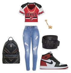 """""""new gir"""" by sadayamc23 on Polyvore featuring Majestic, NIKE, Sterling Essentials and MCM"""