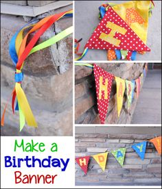Rainbow Colored DIY Birthday Banners