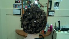 Back of an updo