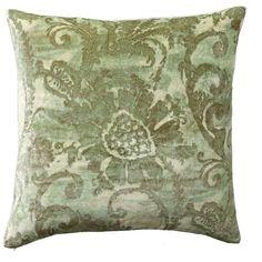 Pottery Barn Scarlett Printed Velvet Pillow Cover ($18) ❤ liked on Polyvore featuring home, home decor, throw pillows, velvet throw pillows, pottery barn, distressed home decor, pottery barn throw pillows and velvet accent pillows