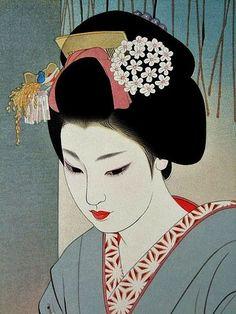 art, geisha, and japanese image Japanese Drawings, Japanese Artwork, Japanese Painting, Japanese Prints, Chinese Painting, Japanese Style, Asian Artwork, Geisha Kunst, Art Geisha
