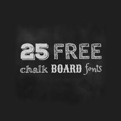 A collection of free fonts for your chalk board designs, wedding invitations, DIY projects, blogging & more!