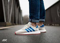 adidas Iniki Runner (Off White/ Blue / Core Red)