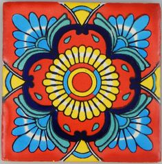 Our range of hand crafted Mexican talavera tiles are imported directly from Mexico. They are sure to add a splash of colour whether as a feature, a tiled border, a splash back in the kitchen or bathroom or even just a coaster on your coffee table! Cork Crafts, Canvas Crafts, Mosaic Art, Mosaic Tiles, Family Tree Art, Mexican Folk Art, Mexican Tiles, Mexican Fabric, Clay Tiles