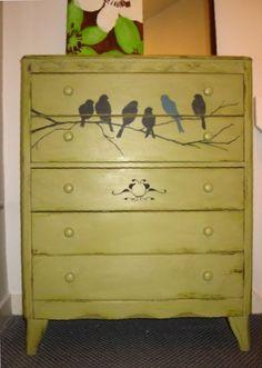 Bird stencil.