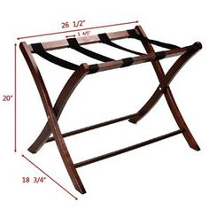 Foldable-Luggage-Rack-Winsome-Wood-Classic-Hotel-Passenger-Suitcase-Stand-New