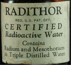 Radithor Label