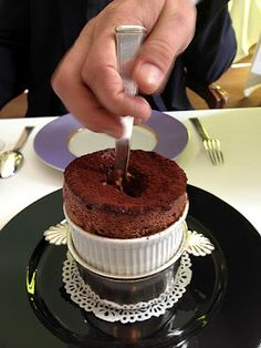 soufflè al cioccolato ..........mmmmm