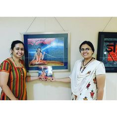 :heart_eyes: starting my day with #art #exhibition today! Beautiful collection of #steppling #art created by #DeepaliPatwadkar artist from #pune  Also bought her amazing #book  #supportartists #theartandcraftgallery #punediaries #punekars