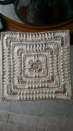 "Ravelry: Moroccan Window 12"" Afghan Square pattern by Heather C Gibbs"