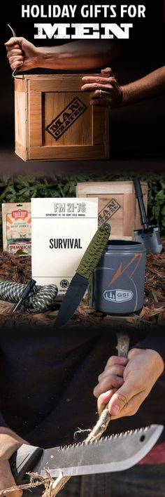 A holiday gift for the rugged survivalist on your list, if he can get the crate open! #mancrates