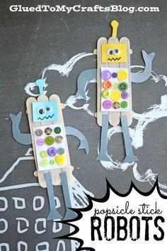 Popsicle Stick Robots - Kid Craft                                                                                                                                                     More