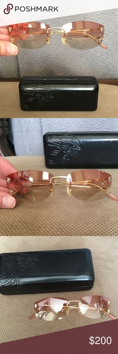 Versace Sunglasses Versace vintage, rimless frame sunglasses. In very good condition. These are very hard to find. Authentic. Versace Accessories Sunglasses
