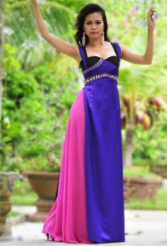 MODERN LONG DRESS - CT138 | Two line dress, most comfortable dress for traveling :)