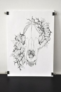Mercy wolf skull by TheDoodleProject on Etsy