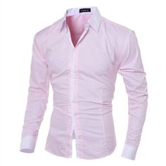Turn Down Collar Men's Shirt