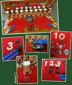 """""""Reindeer Games"""" Fine Motor Counting Fun (from Rachel, Stimulating Learning)"""