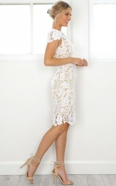 King Of Hearts dress in white lace