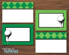 Golf Party Buffet Cards Editable ParTEE by ABOcustomDesign on Etsy