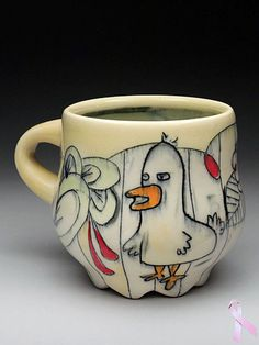 Chandra DeBuse Mug at MudFire Gallery sadly this one is no longer available, but you can learn her techniques at her workshop at Mudfire in May 2014.