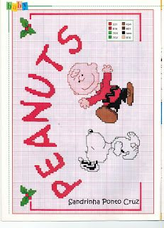 Sandrinha Ponto Cruz: Snoopy...peanuts cross stitch