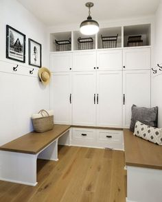 Form meets function with these luxury mudroom ideas. From cute hall trees to custom cabinet installs, these mudroom ideas are sure to inspire. Vestibule, Custom Home Builders, Custom Homes, Small Mudroom Ideas, Mudroom Cabinets, Tall Cabinets, Shoe Cabinets, Entry Way Design, Small Room Design