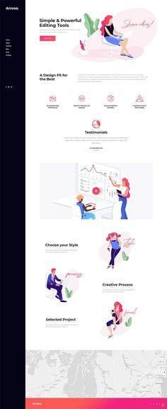 Set up a mesmerizing business website with Arrosa WordPress theme. Landing Page Inspiration, Web Design Inspiration, Ecommerce Template, Web Design Trends, Design Websites, Site Internet, Business Presentation, Start Up Business, Best Wordpress Themes