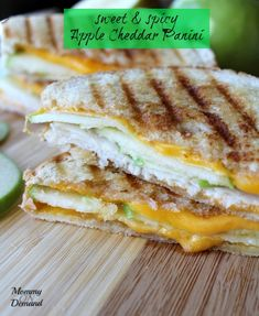 Turn your boring grilled cheese into Sweet & Spicy Apple Cheddar Panini. Between the sweetness of a green apple and the spicy from the Srirach you will be hooked.