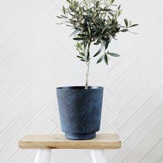 Planter Krukke L, Marmor/Blå 520 kr. - RoyalDesign.dk