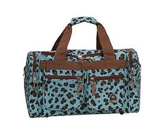 Rockland Luggage 19 In Tote Bag Travel Duffle Carry On Freestyle Blue Leopard