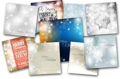9 Christmas Cards & Backgrounds  @creativework247