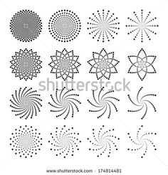 Desen Vector set of dot shapes - stock vectorFind abstract dots Stock Images in HD and millions of other royalty-free stock photos, illustrations and vectors in the Shutterstock collection. Mandala Art, Mandala Drawing, Mandala Painting, Mandala Pattern, Mandala Design, Pattern Art, Dot Art Painting, Painting Patterns, Stone Painting