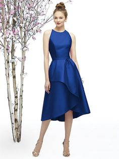 Lela Rose Style LR206 in sapphire blue for bridesmaids