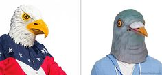 Halloween Bird Masks The Bald Eagle and Pigeon. Halloween costume winner! Best halloween costumes. Horse Head