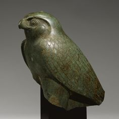 An Egyptian Peridotite Figure of the Horus Falcon, New Kingdom/Late Period, 1540 Ancient Egyptian Art, Ancient History, Art History, Egyptian Things, Historical Artifacts, Ancient Artifacts, Empire Romain, Ancient Civilizations, Egyptians