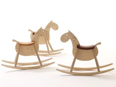 rocking horse MUSTANG by sixay furniture - premium solid wood design furniture Wooden Horse, Wooden Animals, Kids Rocking Horse, Wood Toys, Wooden Diy, Kids Furniture, Furniture Design, Wood Design, Kids Decor
