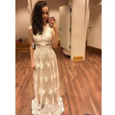 2 Pieces Lace Charming Teenagers Lovely Long Evening Prom Dresses, PM0279