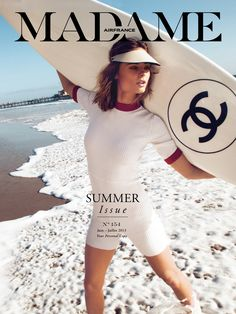 visors - l.a. beach cruiser: ioanna ntenti by hilary walsh for madame air france june/july 2013 | visual optimism; fashion editorials, shows, campaigns & more!