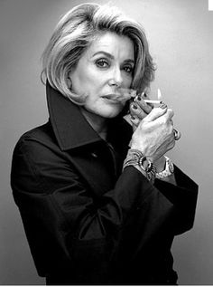 Catherine Deneuve. I don't care if Catherine had work done or is aging with minimal maintenance, she still looks fabulous!